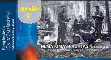 """Filmo """"Nematomas frontas"""" peržiūra"""