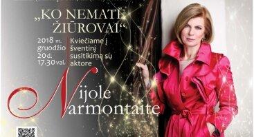 Šventinis susitikimas su aktore Nijole Narmontaite