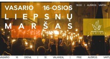 Vasario 16-oji | Liepsnų maršas