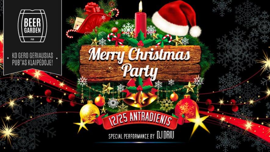 Merry Christmas Image.Merry Christmas Party Beer Garden Renginiai Kas Vyksta