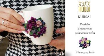 Kursai - puodelio dekoravimas polimeriniu moliu