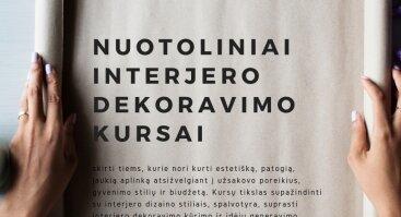 Nuotoliniai  INTERJERO DEKORAVIMO KURSAI