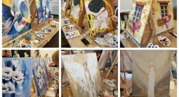 Privatūs tapybos vakarai - mūsų ir Jūsų erdvėse