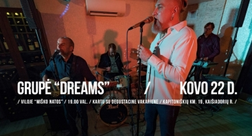 "Grupės ""Dreams"" koncertas viloje ""Miško natos"""