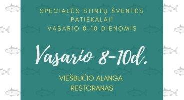 Stintų šventė Alangos restorane