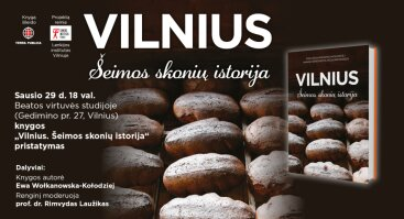 """Knygos """"Vilnius. Šeimos skonių istorija"""" pristatymas"""