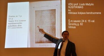 VDU prof. Liudo Mažylio susitikimas su Vilniaus licėjaus bendruomene