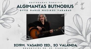 Muzikinis vakaras su Algimantu Butnoriumi restorane Žemaitis