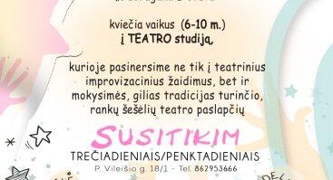 """Rankų šešėlių teatro """"Budrugana Lietuva""""  studija vaikams"""