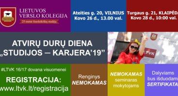 LTVK Atvirų durų diena - ,,STUDIJOS-KARJERA