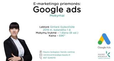 """Mokymai """"E-marketingo priemonės: Google Ads"""""""