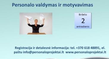 PERSONALO  VALDYMAS  IR  MOTYVAVIMAS