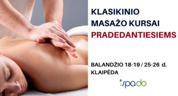 Klasikinio kūno masažo mokymai PRADEDANTIESIEMS