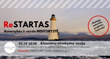 ReSTARTAS - asmenybės ir verslo mentorystė. Klausimų-atsakymų sesija.