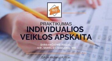Ind. veiklos apskaita. Pagal IVP, verslo liudijimą, MB | Vilnius