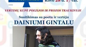 Vertimų kupė poezijos ir prozos traukinyje su Dainiumi Gintalu