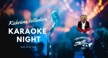 Karaoke night šeštadieniais