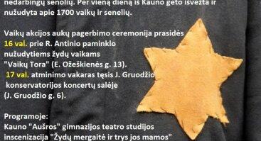 Vaikų akcijos Kauno gete 75-ųjų metinių minėjimas