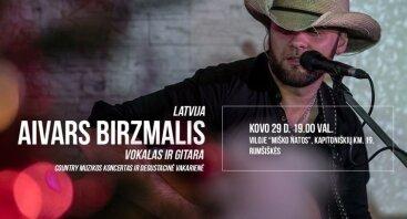 """Country muzikos atlikėjo Aivaro Birzmalio koncertas viloje """"Miško natos"""""""