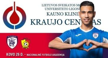 Kraujo donorystės akcija su Kauno futbolininkais - kovo 26 d.