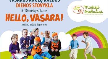 Anglų kalbos DIENOS STOVYKLA Vilniuje HELLO, VASARA!