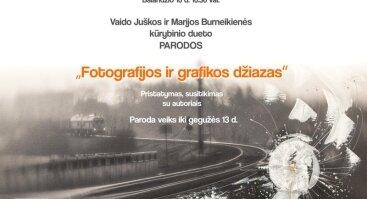 """Parodos """"Fotografijos ir grafikos džiazas"""" pristatymas, susitikimas su autoriais"""