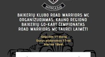 Go-Kart čempionatas Road Warriors MC Taurei laimėti