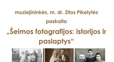 """Paskaita """"Šeimų fotografijos: istorijos ir paslaptys"""""""