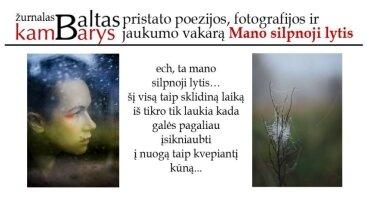 """Žurnalo """"Baltas kambarys"""" renginys: poezijos bei fotografijos vakaras """"Mano silpnoji lytis"""""""