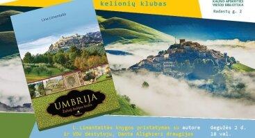 L. Limantaitės knygos apie Umbrijos regioną pristatymas