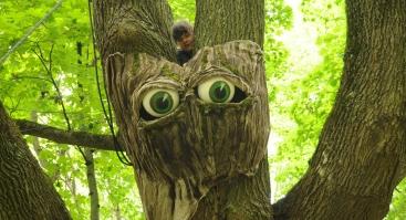"""Lėlių spektaklis medžiuose """"Ieškoma: teisybė"""""""