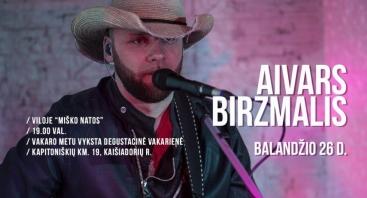 Country muzikos atlikėjo Aivaro Birzmalio koncertas Miško natose