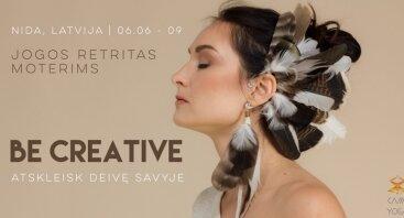 Be Creative   Jogos retritas - stovykla moterims su CamíYoga