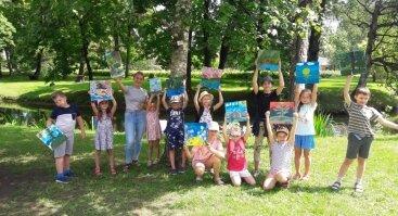 KERAMIKOS, TAPYBOS, GRAFIKOS vasaros pusiaudienio stovykla vaikams