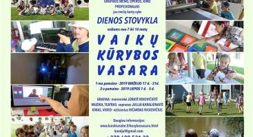 Vaikų kūrybos vasara - dienos stovykla