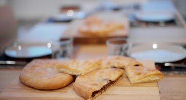 Gruzinų virtuvės patiekalų mokymai IMERETIJOS CHAČAPURI ir CHEVSURETIJOS PHALIANI
