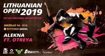 LITHUANIAN OPEN 2019 šokių varžybos ir Alekna feat.Ortreya koncertas