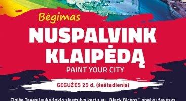 "Bėgimas ""Nuspalvink Klaipėda / Paint Your City"""