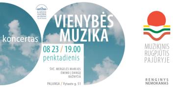 """MUZIKINIS RUGPJŪTIS PAJŪRYJE - Koncertas """"Vienybės muzika"""", skirtas Baltijos kelio 30-mečiui"""
