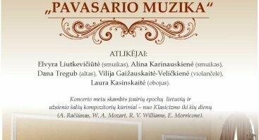 """Klasikinės muzikos koncertas """"Pavasario muzika"""""""