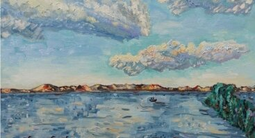 """Rasos Šimkutės ir Viktorijos Petrauskienės jungtinė tapybos paroda """"Tarp vandenų"""""""