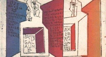 """""""Tapatumo ženklai. Vinco Kisarausko ekslibrisai iš Pauliaus Galaunės kolekcijos"""""""