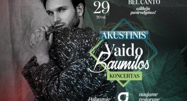"""Akustinis Vaido Baumilos koncertas Palangoje """"Gradiali"""" naujame restorane """"Pineta"""""""