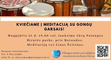 Meditacija su gongų garsais