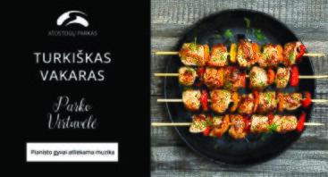 """Turkiškos virtuvės vakaras """"Parko virtuvėlėje"""""""