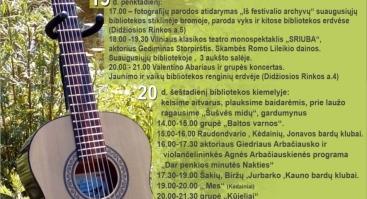 """Dainuojamosios poezijos festivalis""""Ant Nevėžio kranto 2019"""""""