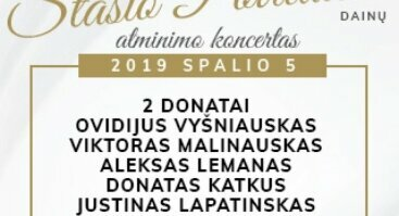 Maestro Stasio Povilaičio dainų atminimo koncertas kartu su Šv. Kristoforo kameriniu orkestru