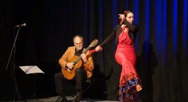 Klaskinės gitaros it flamenko šokio duetas