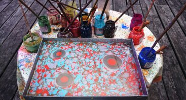 VYTA menas – tapyba ant vandens EBRU
