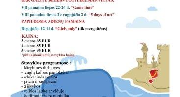 Anglų kalbos dienos stovyklos 7-10 m. vaikams tik 95 EUR